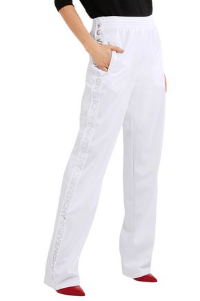 GIVENCHY Striped jersey track pants