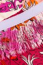 EMILIO PUCCI Cropped fringed floral-print silk-twill wide-leg pants