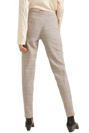 GABRIELA HEARST Checked wool-blend slim-leg pants