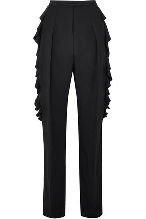 ANTONIO BERARDI Ruffled crepe tapered pants