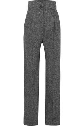 ANTONIO BERARDI Mélange wool-tweed wide-leg pants
