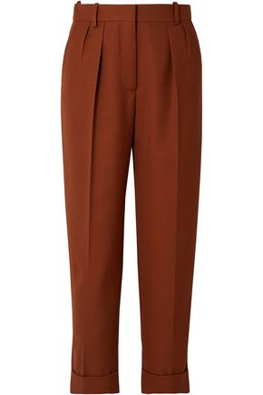VICTORIA BECKHAM Cropped wool tapered pants