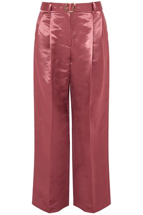SIES MARJAN Belted satin wide-leg pants