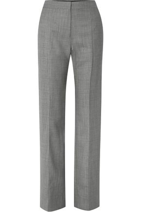 NARCISO RODRIGUEZ Mélange wool straight-leg pants
