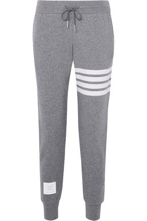 THOM BROWNE Cashmere and cotton-blend track pants