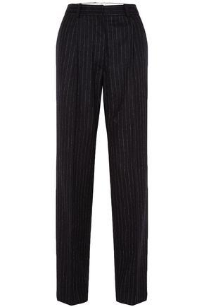HILLIER BARTLEY Pinstriped wool straight-leg pants