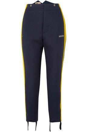 OFF-WHITE™ Striped crepe straight-leg pants