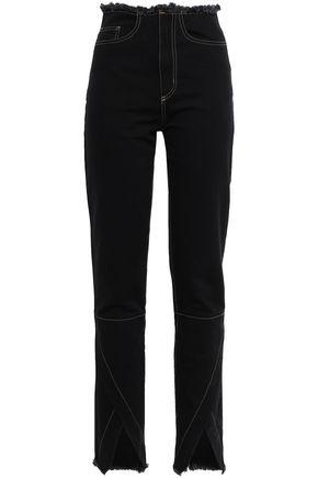 MARQUES' ALMEIDA Frayed high-rise straight-leg jeans