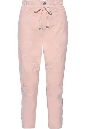 CURRENT/ELLIOTT The Beverly cropped cotton-blend tapered pants