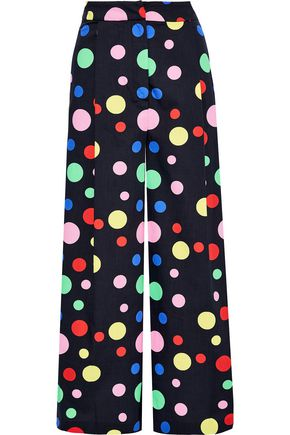 NOVIS The Shelburne cropped polka-dot cotton wide-leg pants