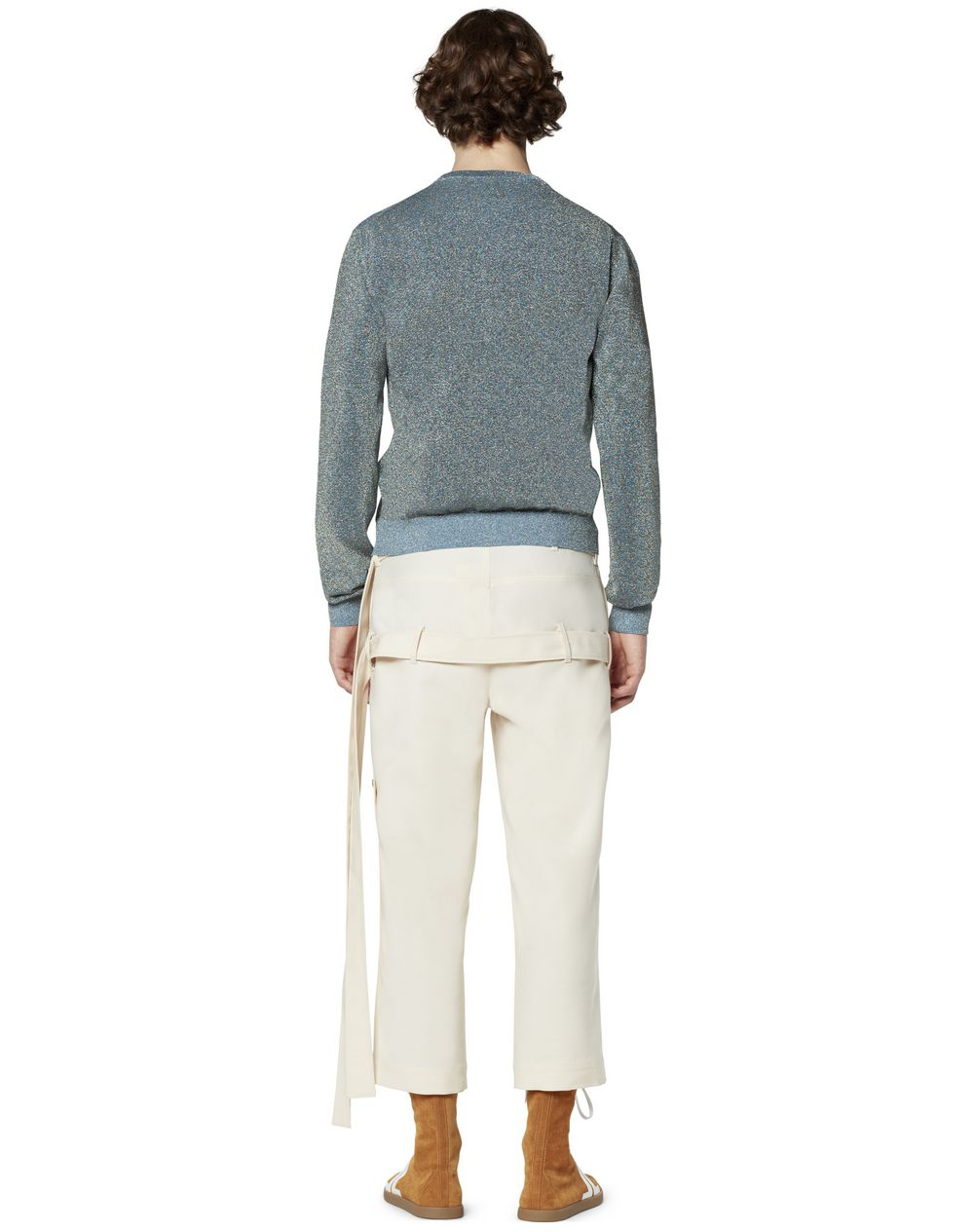 CROPPED TROUSERS WITH DOUBLE BELT - Lanvin