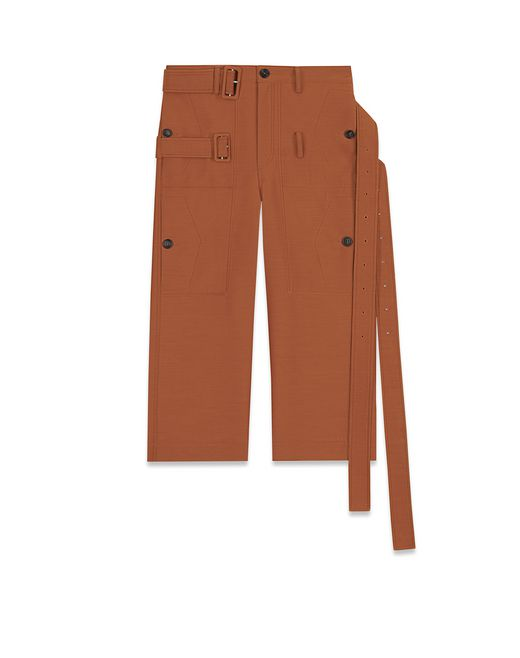 CROPPED PANTS WITH DOUBLE BELT - Lanvin