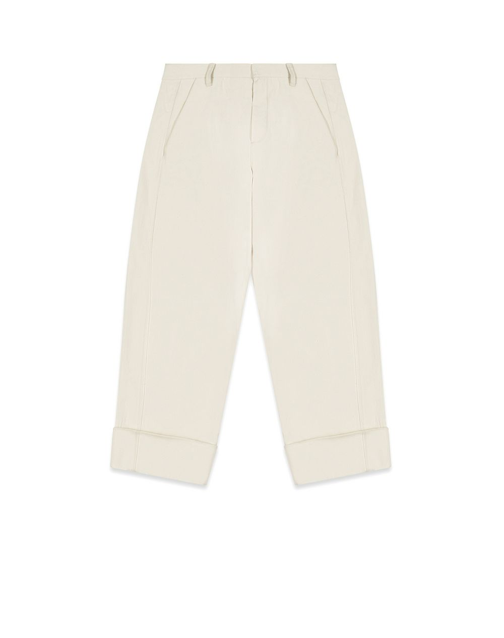 TAILORED COTTON PANTS - Lanvin