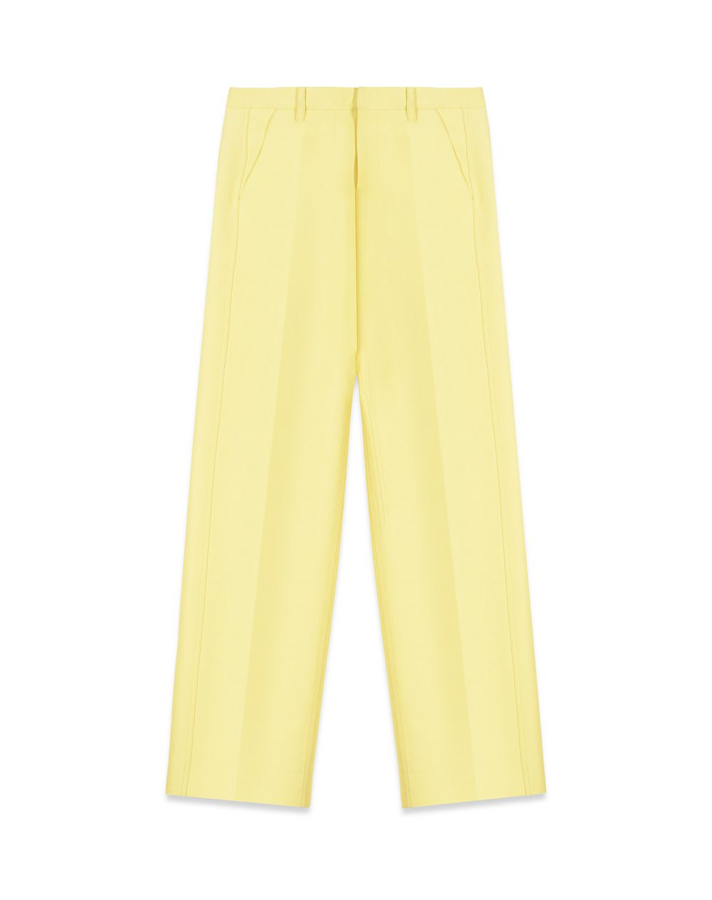WOOL AND SILK TUXEDO TROUSERS - Lanvin