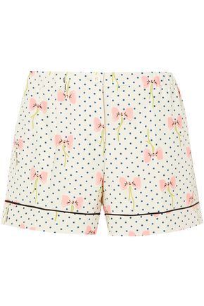 MIU MIU Printed silk crepe de chine shorts