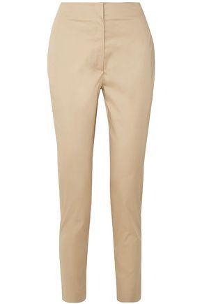 THE ROW Vivienne cotton-blend straight-leg pants