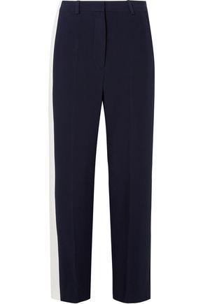 STELLA McCARTNEY Two-tone crepe wide-leg pants