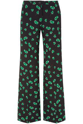MIU MIU Printed crepe wide-leg pants
