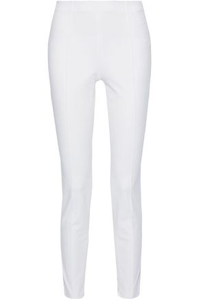 THEORY Stretch-cotton twill slim-leg pants