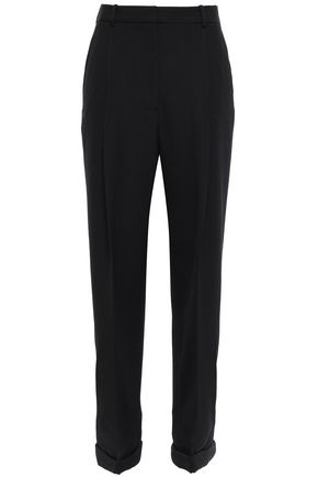 3.1 PHILLIP LIM Grosgrain-trimmed wool-twill straight-leg pants