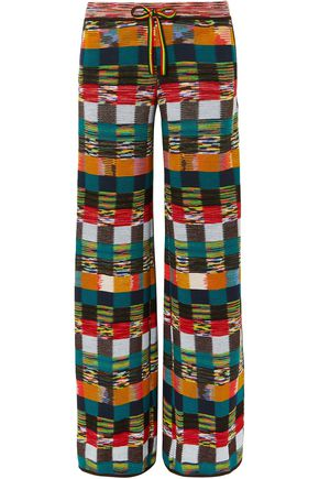 MISSONI Checked wool wide-leg pants