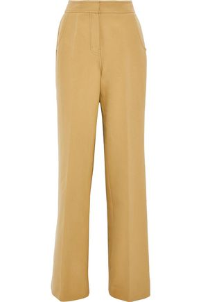DEREK LAM Cotton-twill wide-leg pants