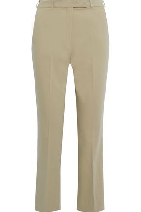 ETRO Cropped cotton-blend straight-leg pants