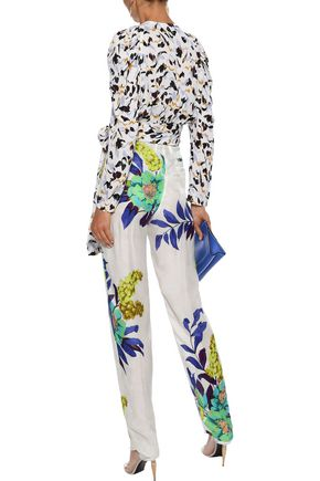 ETRO Pleated floral-print jacquard tapered pants