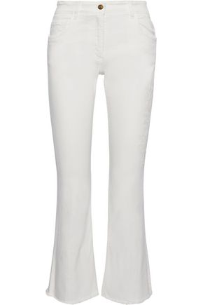 ETRO Embroidered mid-rise kick-flare jeans