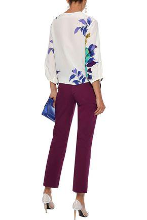 ETRO Cropped cotton-blend straight-leg pants