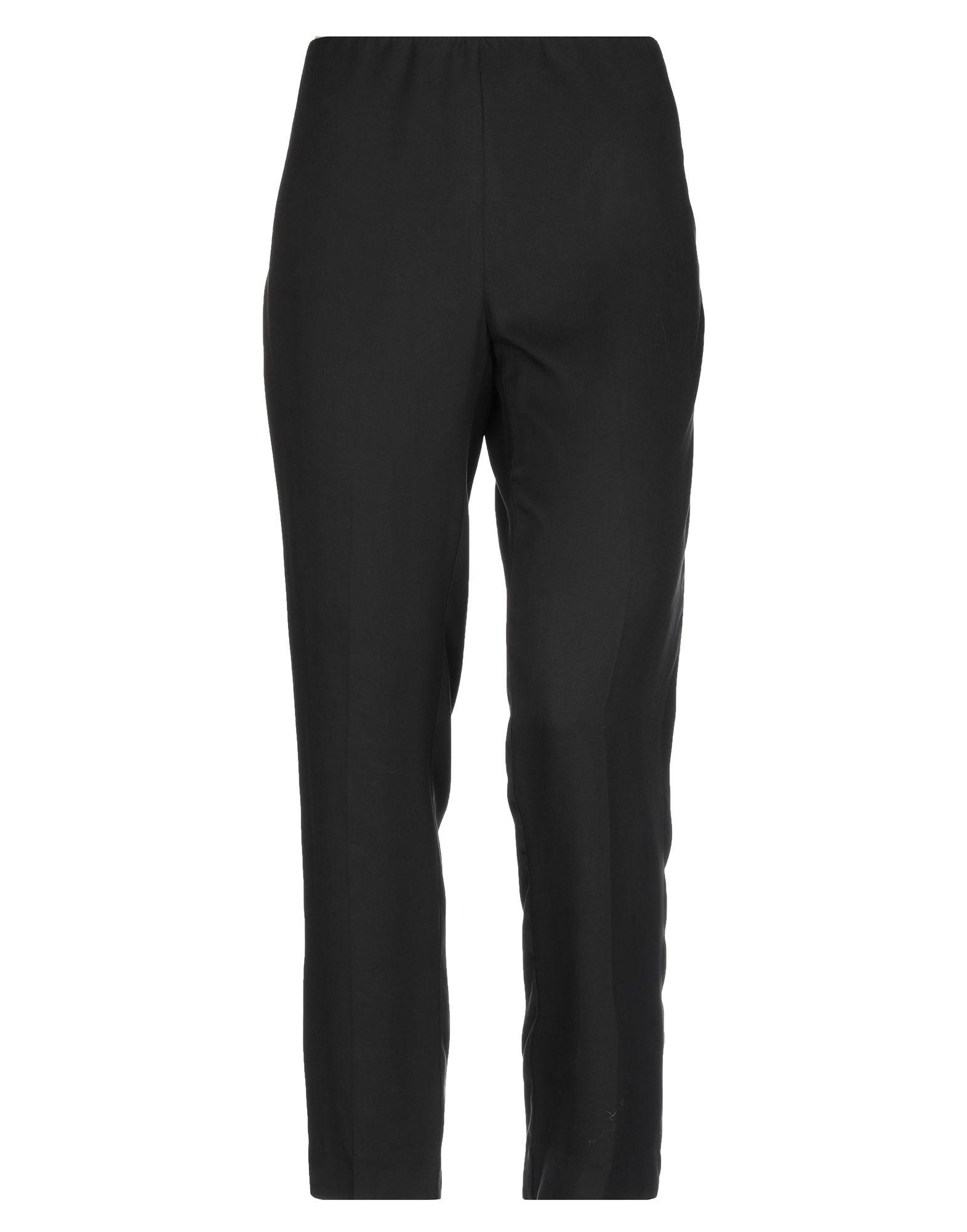 《送料無料》LES COPAINS レディース パンツ ブラック 42 テンセル 100%