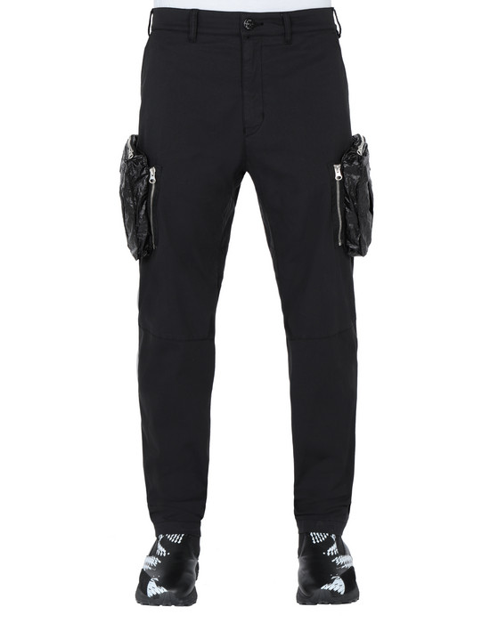 STONE ISLAND SHADOW PROJECT 30308 CARGO PANTS TROUSERS Man Black