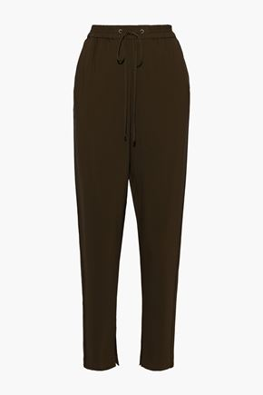 3.1 PHILLIP LIM Gathered crepe tapered pants