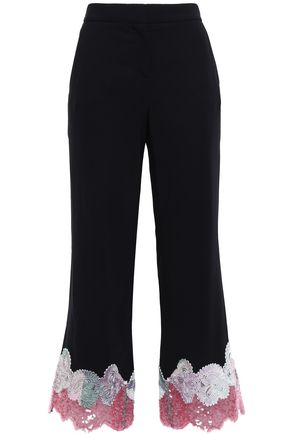 EMILIO PUCCI Embroidered sequin-embellished crepe straight-leg pants