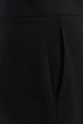 EMILIO PUCCI Lace-trimmed stretch-crepe kick-flare pants