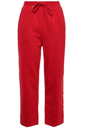 McQ Alexander McQueen Embroidered cotton track pants