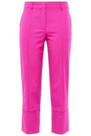 EMILIO PUCCI Cropped wool-blend twill slim-leg pants