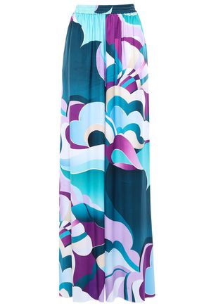 EMILIO PUCCI Printed twill wide-leg pants