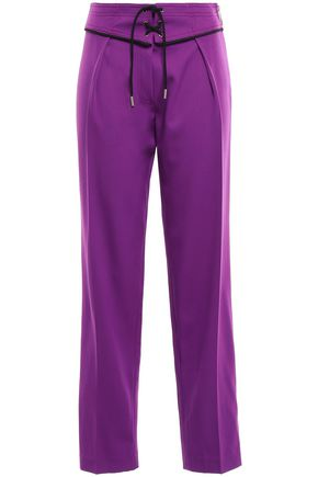EMILIO PUCCI Lace-up wool-blend crepe straight-leg pants