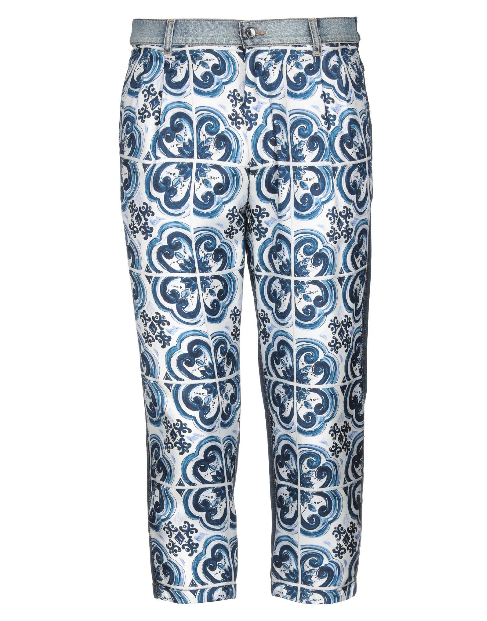 купить DOLCE & GABBANA Джинсовые брюки-капри по цене 32000 рублей