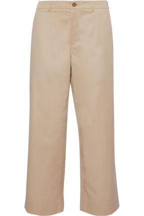 ACNE STUDIOS Cropped cotton-twill wide-leg pants