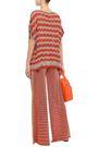 M MISSONI Metallic crochet-knit wide-leg pants