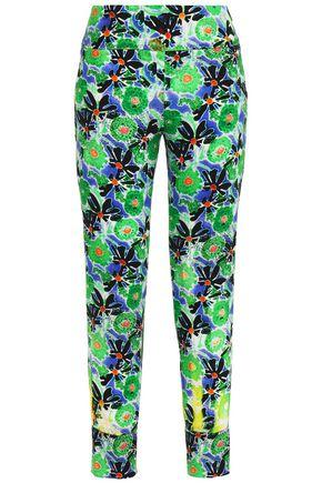 PRADA Printed crepe slim-leg pants