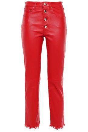 AMIRI Leather straight-leg pants
