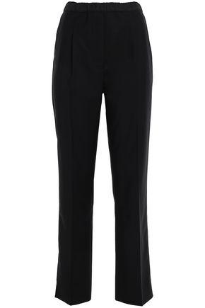 PRADA Shell-paneled wool-blend straight-leg pants