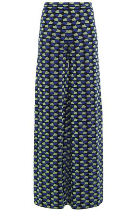 M MISSONI Jacquard cotton-blend wide-leg pants