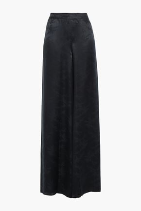 CAMI NYC Tommy silk-jacquard wide-leg pants