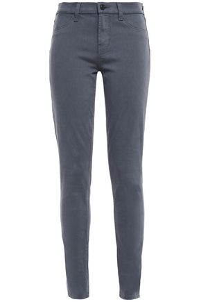 J BRAND Cotton-blend sateen slim-leg pants