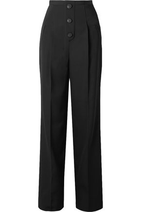 GIVENCHY Grain de poudre wool wide-leg pants