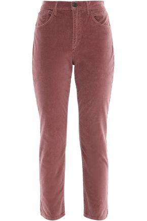 3x1 Cotton-blend velvet slim-leg pants